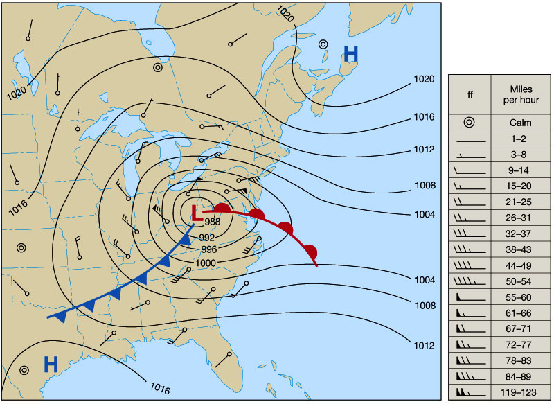 A Steep Or Strong Pressure Gradient Appear On A Weather Map As.Rich Hoffman S Phy 116 Chapter 6
